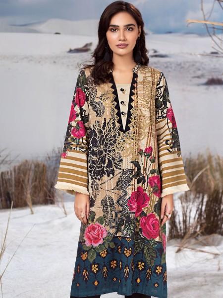 LimeLight Winter19 Unstitched Winter Cotton Shirt U0917-SSH-BGE