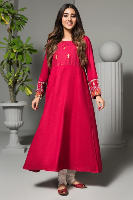 Origins AURORA RED Embroidered Frock19W24s