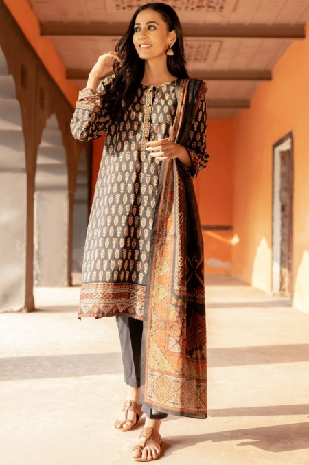 Zeen Woman Meerak Winter Unstitched3 Piece Printed Cambric 632521