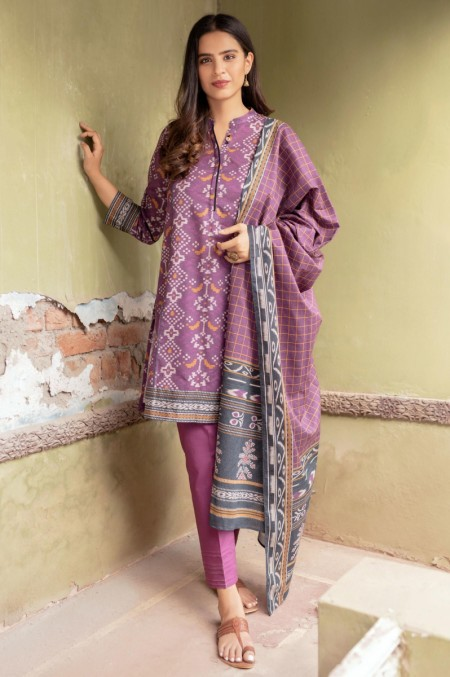 Zeen Woman Meerak Winter Unstitched3 Piece Printed Karandi 633525