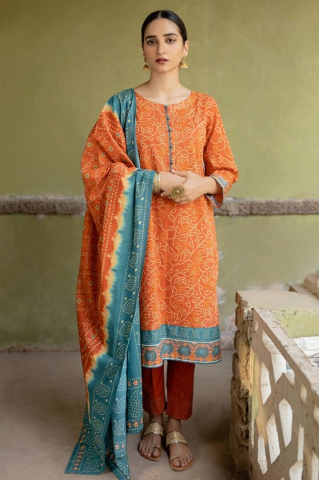 Zeen Woman Meerak Winter Unstitched3 Piece Printed Khaddar 632 60 6