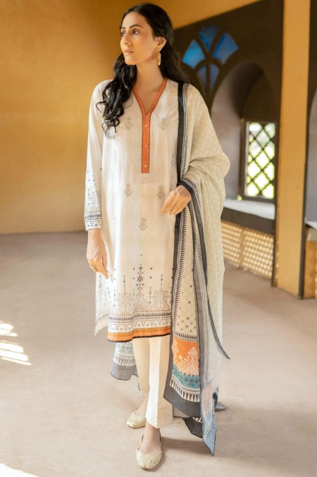 Zeen Woman Merak Winter Unstitched3 Piece Printed Linen Viscose 633530