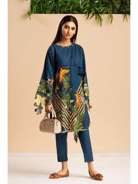By The Way Unstitched Winter Collection Exotic Fleur WRU0018-REG-BLU