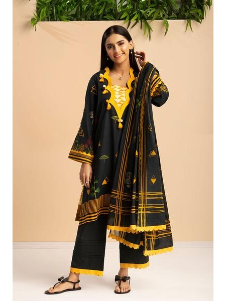 By The Way Unstitched Winter Collection Lavish Black WRU0015-REG-BLK
