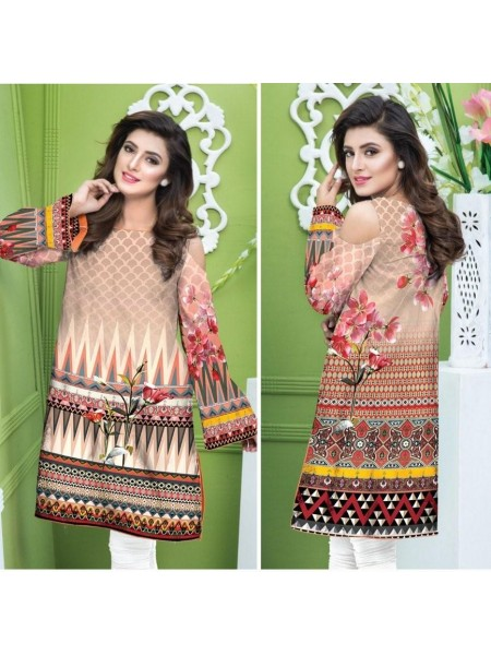 DG138- SAFWA DIGITAL COTTON PRINT KURTI COLLECTION -SHIRT KURTI KAMEEZ