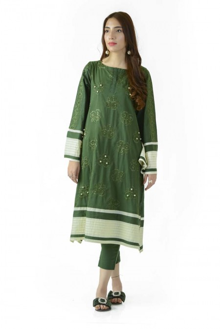 Ego Winter19 Essentials Forest Glow 2 Piece Kurta and Pants EGN-080