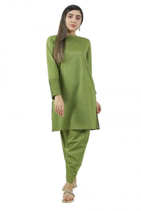 Ego Winter19 Essentials Mighty Green 2 Piece Kurta and Shalwar EGN-087