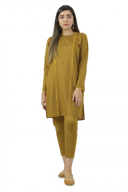 Ego Winter19 Essentials Rusted Frayed 2 Piece Kurta and Pants EGN-117