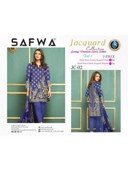 JC-02-SAFWA SWISS COTTON-JACQUARD COLLECTION- PRINTED -2 PIECE DRESS