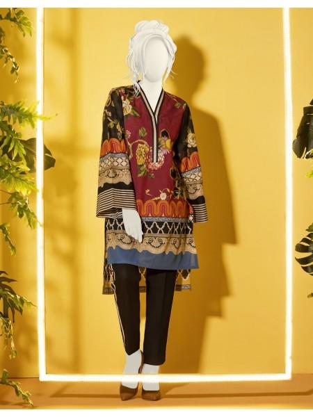 Junaid Jamshed Kurti Collection JJLK-W-JWS-19-3088 FB-Honey Comb