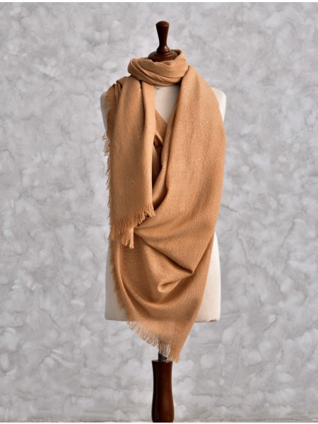 KHAS STORES Shawl Collection SHAWL IHC-R-01-24 BROWN
