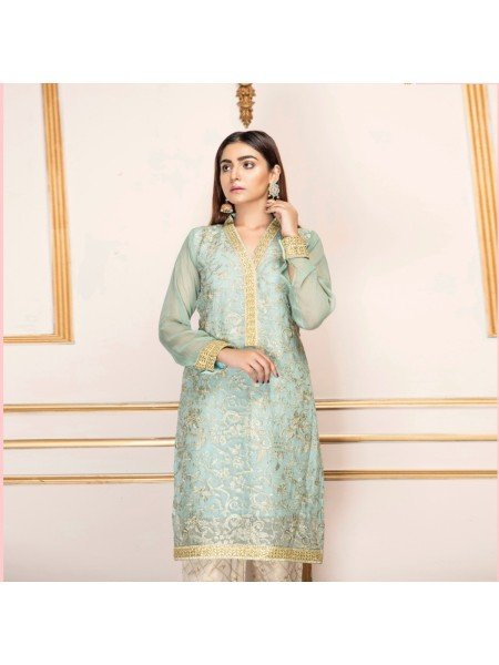 Mannat Clothing Sea Green Attire MC-041