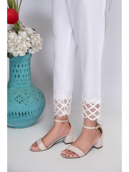 Mannat Clothing Straight Pant white MC-039