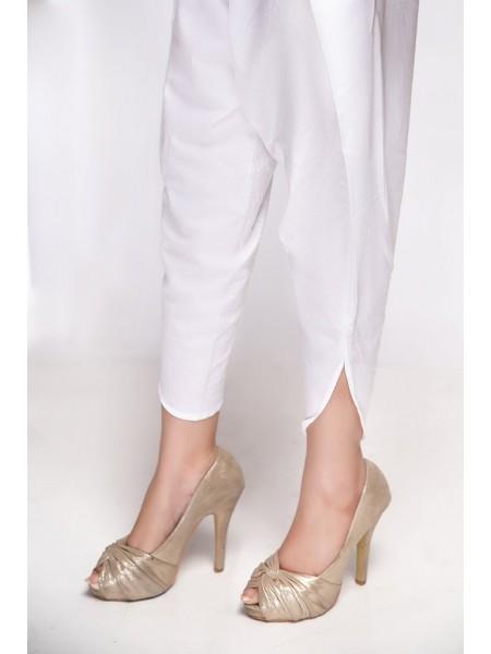 Mannat Clothing Tulip Shalwar White MC-037