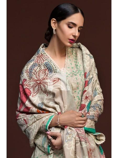 Nishat Linen Winter19 Unstitched 41901008-Karandi Pashmina Beige Printed 3PC