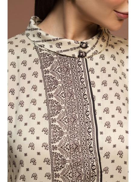 Nishat Linen Winter19 Unstitched 41901045-Linen Silk Wool Off White Printed 3PC