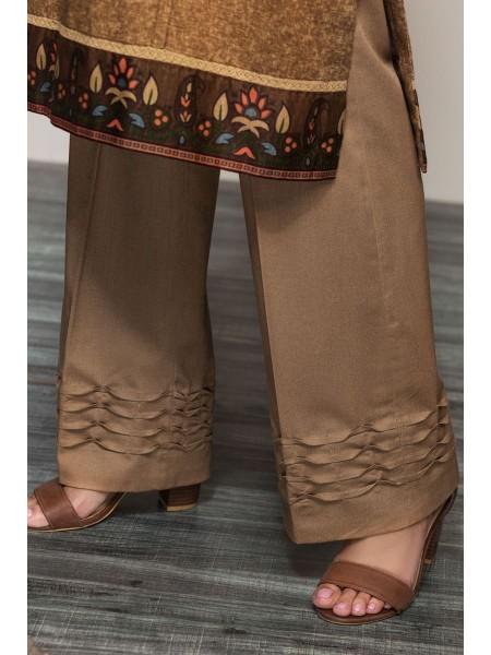 Nishat Linen Winter19 Unstitched 41901065-Karandi Mix Wool Beige Printed 3PC