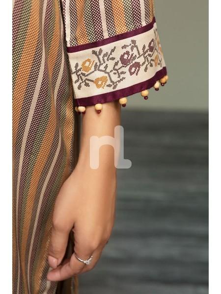 Nishat Linen Winter19 Unstitched 41901084-Linen Beige Printed 3PC