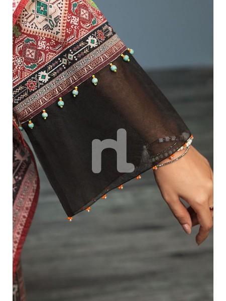 Nishat Linen Winter19 Unstitched 41901127-Khaddar Karandi Black Digital Printed 3PC
