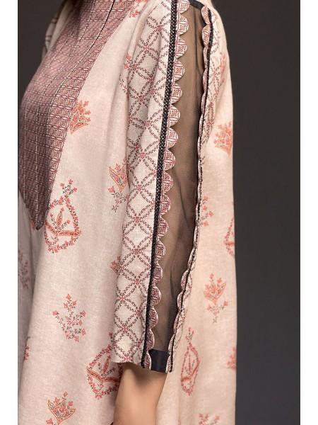 Nishat Linen Winter19 Unstitched 41901145-Cotton Karandi Peach Digital Printed 2PC