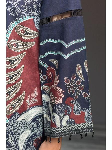 Nishat Linen Winter19 Unstitched 41901146-Cotton Karandi Blue Digital Printed 2PC