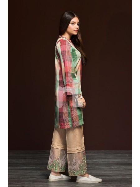 Nishat Linen Winter19 Unstitched 41901164-Karandi Beige Printed Embroidered 2PC