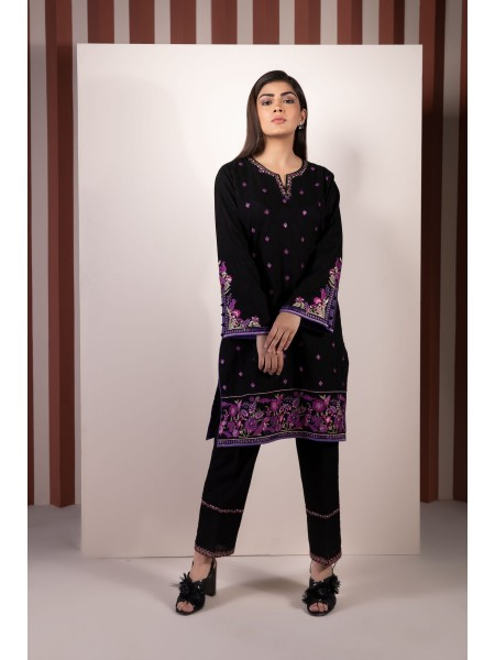 SAPPHIRE Ready to Wear Blackish Fudge 2 Piece - Embroidered Jacquard 002PECLS2204-XXS-BLK