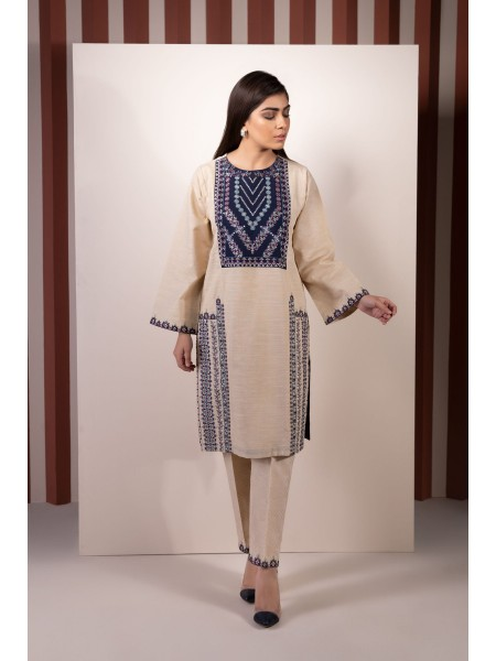 SAPPHIRE Ready to Wear Blue Maze 2 Piece - Embroidered Khaddar 002PECLS2205-XXS-BGE