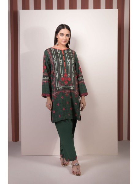SAPPHIRE Ready to Wear Green Lecter 2 Piece - Printed Linen 0002PCLS2006-XSM-GRN