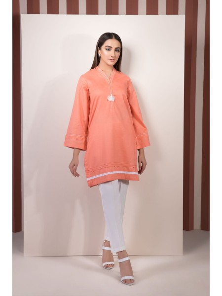 SAPPHIRE Ready to Wear Peach Gardenia Solid Crepe Shirt 000PBPOP2202-XSM-PCH