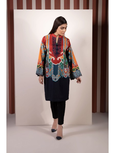 SAPPHIRE Ready to Wear Rusted Rush Embroidered Crepe Shirt 00PRESTM2102-XXS-MUL
