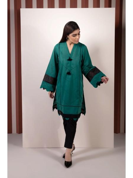 SAPPHIRE Ready to Wear Viridian Solid Karandi Shirt 000PBCLS2202-XSM-GRN