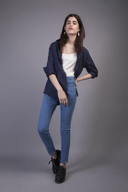 Sapphire Western Wear Marina WESTTOP00132-XSM-NVY