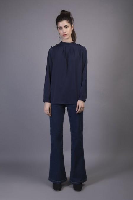 Sapphire Western Wear Monaco WESTTOP00117-XSM-NVY