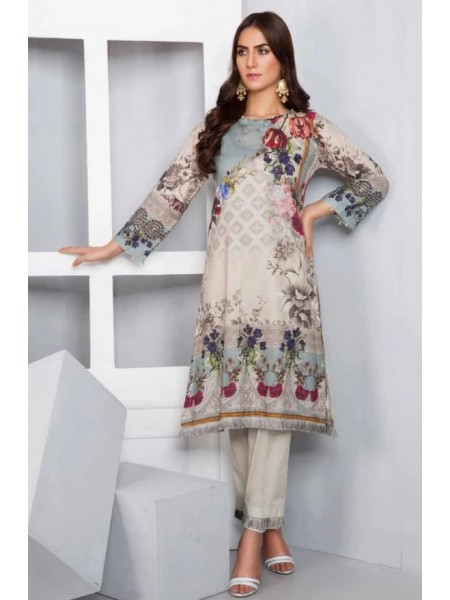SP-11-SAFWA LAWN-SERENE PLUS COLLECTION- PRINTED -2 PIECE DRESS