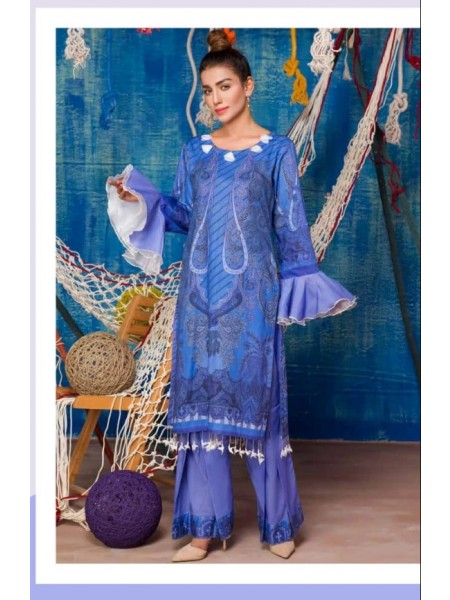 SP-20-SAFWA LAWN-SERENE PLUS COLLECTION- PRINTED -2 PIECE DRESS