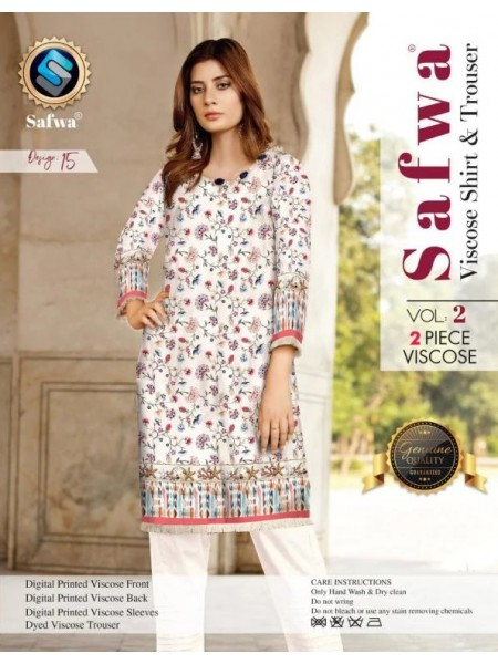 VC-15 -SAFWA VISCOSE 2 PIECE DRESS COLLECTION-DIGITAL PRINTED 2019