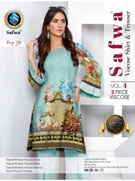 VC-39 -SAFWA VISCOSE 2 PIECE DRESS COLLECTION VOL 4 2019 -DIGITAL PRINTED 2019