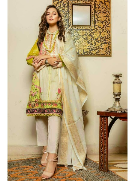 Zahra Ahmad Luxury Pret Ivory Floral