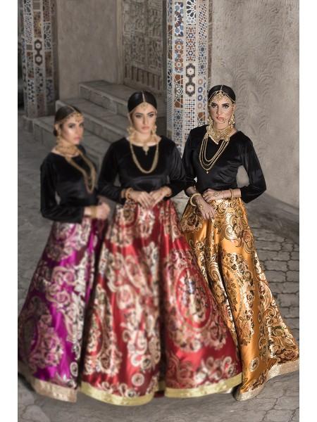 Zahra Ahmad Luxury Pret Maharaani-Mustard