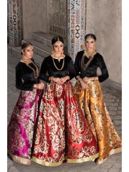 Zahra Ahmad Luxury Pret Maharaani-Red
