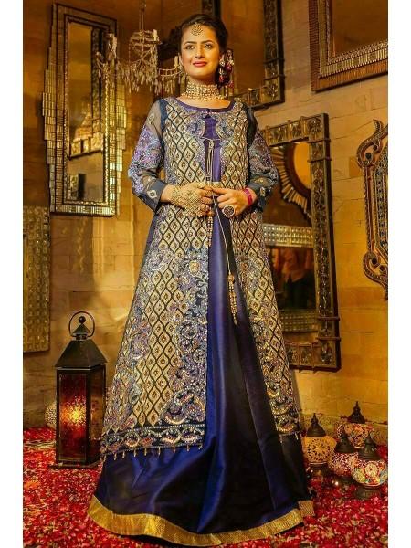 Zahra Ahmad Wedding Wear Blue Sea EB-31