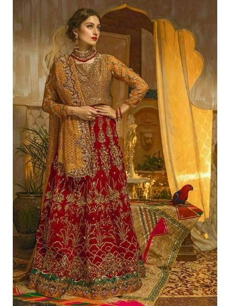 Zahra Ahmad Wedding Wear Red Glory GM001