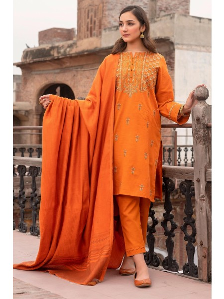 Zeen Woman Merak Winter Collection Unstitched 3 Piece Khaddar & Yarn Dyed Jacquard 635723