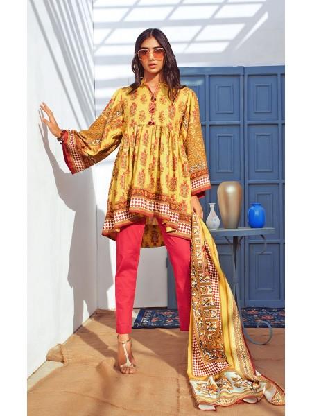 Zellbury Winter Collection19 Shirt Dupatta - Golden Sand - Dobby Suit ZWUIM220016