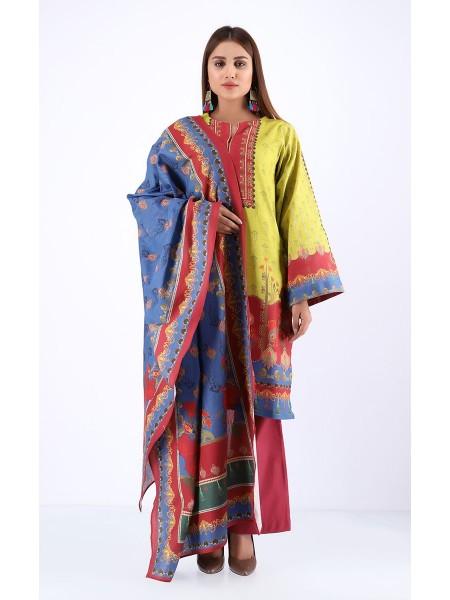 Zellbury Winter Collection19 Shirt Dupatta - Sandwisp - Khaddar Suit ZWUWC219605