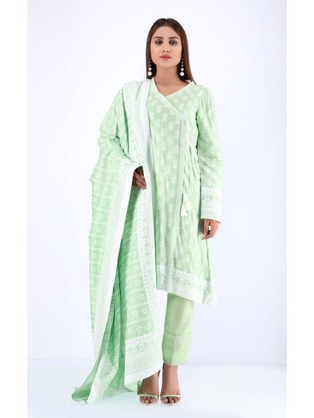 Zellbury Winter Collection19 Shirt Dupatta - Spring Green - Dobby Viscose Suit ZWUWC219580