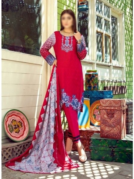 AL ZOHAIB Anum Lawn Collection Monsoon Lawn Collection MLC V-03 D-4B