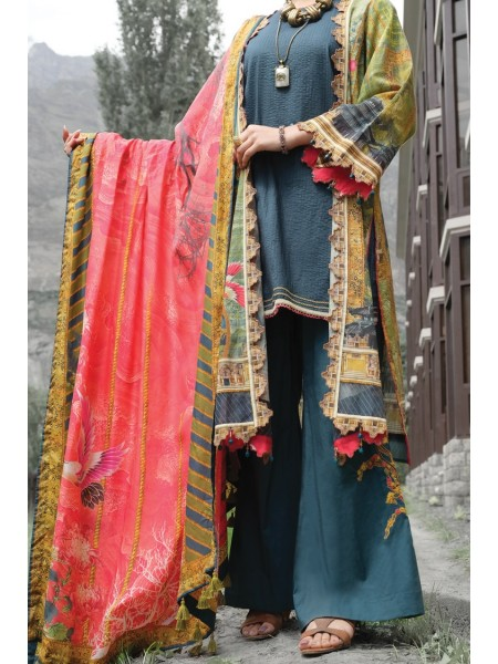 Almirah Unstitched Collection AWP-3PS-208 V-4 2019