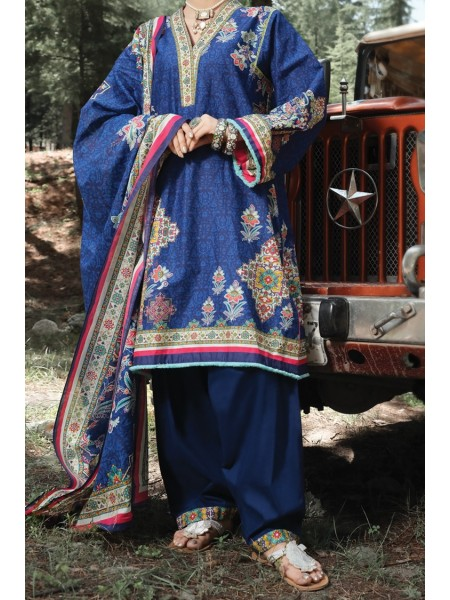 Almirah Unstitched Collection AWP-3PS-250 V-4 2019